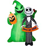 Tamie's Tees And Things Jack Skellington Ghost Skeleton Suit Green Blob Monster Pumpkin Spooky Trick Or Treat Sign Halloween Inflatable Yard Decor