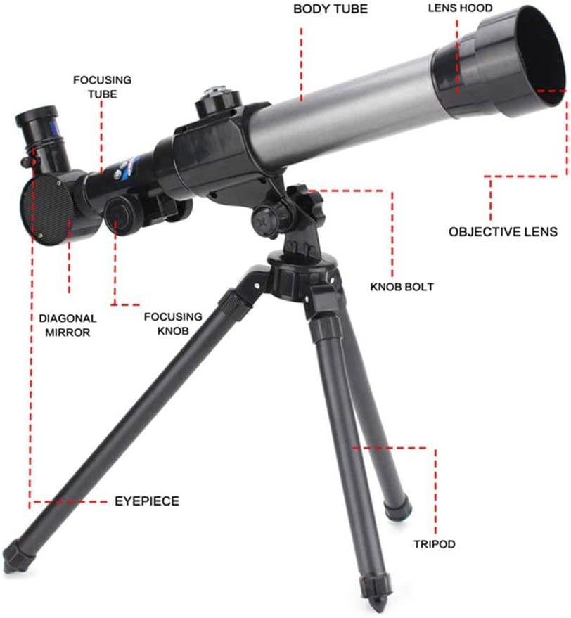 Finder Scope Telescopes for Kids Beginners,60mm HD Refractor Telescope for Astronomy Starter Scope with Tripod Phone Adapter Moon Filter