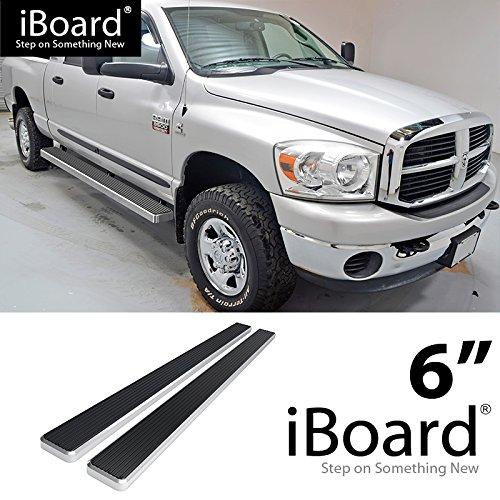 6 inch eBoard Running Boards Aluminum For 09-16 Dodge Ram 1500/2500/3500 Crew Cab Side Step Rails Tube Nerf Bars - Bolt Board Running