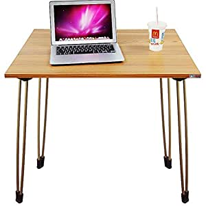Need Folding Computer Desk 80cm Writing Table for Small Spaces Narrow Desk Teak AC4BB