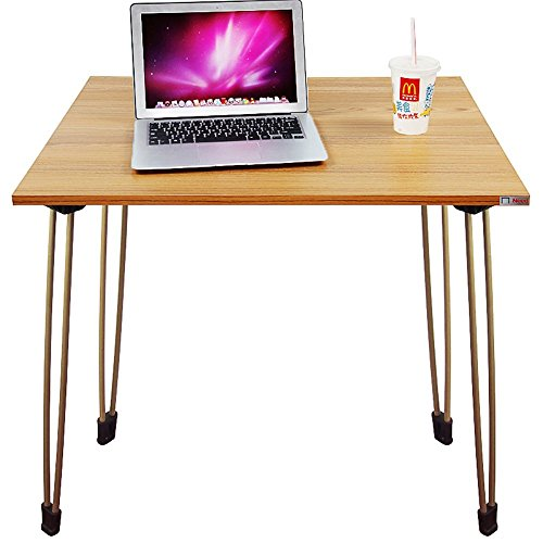 NEED Desk Portable Folding Desk Coffee Table Laptop Desk for Indoor or Outdoor Use Side Table Ded Table, Teak 31.5 by 23.7 Inch (Folding Wooden Outdoor Table)