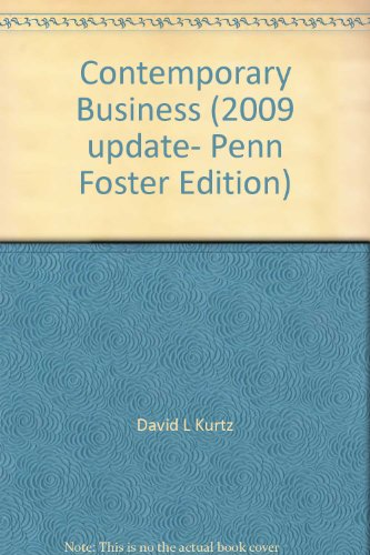 Contemporary Business  2009 Update  Penn Foster Edition
