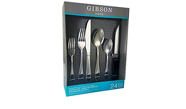Amazon.com | Wilmington 24-Piece Stainless Steel Flatware Set: Flatware Sets
