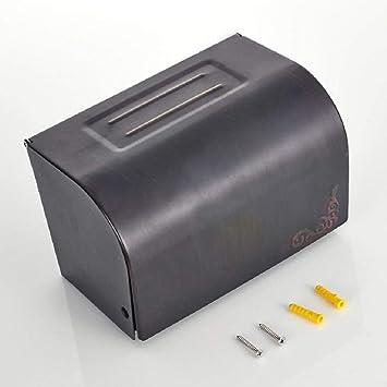 Caja de Papel Higiénico papel higiénico toallas sanitarias cuadro caja de pañuelos de papel toalla de baño cesta cenicero wc bandeja,negro: Amazon.es: ...