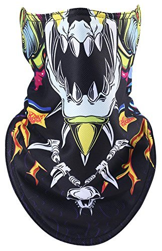 Printed Face Mask Winter Skiing Warm Painted Windproof Ride Half Mask FC-1770