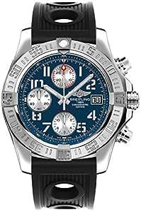 Breitling Avenger II Blue Dial Men's Watch w/ Black Ocean Racer Rubber Strap A1338111/C870-200S