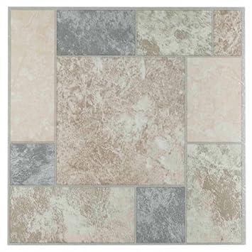 NEXUS 12x12 Self Adhesive Vinyl Floor Tile - 20 Tiles/20 Sq.Ft ...