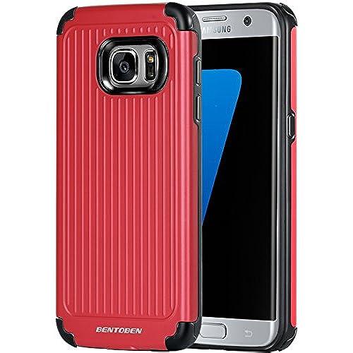 Galaxy S7 Edge Case, S7 Edge Case, BENTOBEN Bumper Protective Slim Shock Absorbing TPU Case Hybrid Dual Layer Sales
