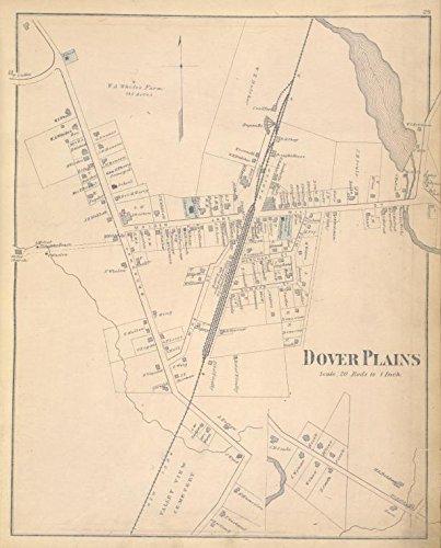 Amazon.com: Historic 1876 Map | Dover Plains [Village] | Dutchess ...