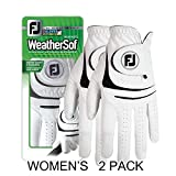 New Improved (2 Pack) FootJoy WeatherSof Ladies Golf Gloves - For Ladies - Worn on Left Hand