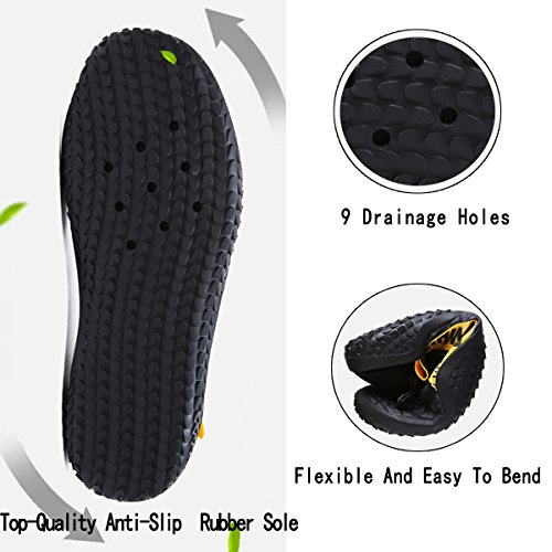 Men Shoes Slip black Walking Beach Pool Socks Yoga On Barefoot Sports Quick Water for Aqua Women White Dry Swim rxqUEYrw