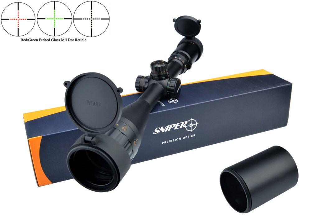 Eagle Eye Sniper 4-16X50 Rifle Scope (25.4mm) Glass Mil Dot Turrets W/Locking/Resetting Capabilities Riflescope