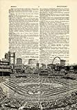 Busch Stadium Interior St Louis Cardinals Printed on Dictionary Paper