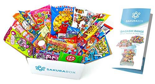 Sakura Box Japanisches Süßigkeiten Dagashi Set und Snack Sortiment 30 Stück
