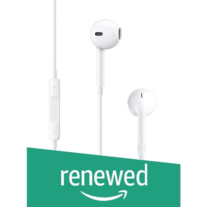 Renewed  Apple MNHF2ZM/A A1472 Earpods Headphone Plug  White  Headphones