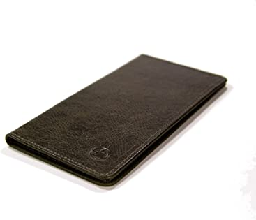 9c777458675 Ludington Long Leather bifold wallet. Large leather wallet made in USA.