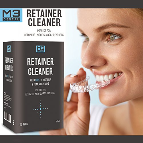 Premium Dental Denture and Retainer Cleaner Tablets (3 Month Supply) by M3 Dental (Image #2)