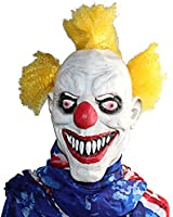 XIAO MO GU Latex Halloween Party Cosplay Face Mask Clown Costumes Mask (Yellow Hair)