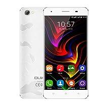 OUKITEL C5 PRO Smartphone 4G Android 6.0 ( MT6737 Quad-core 1.3GHz, 5.0'' HD Schermo, 2GB RAM 16GB ROM, 8MP+5MP Camera, Dual SIM, Batteria 2000mAh) Argento