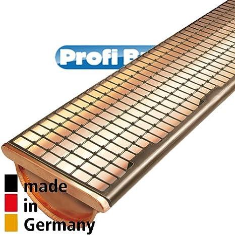 Braun   F/ür Kupferdachrinnen Dachrinnenschutz DARI FIX 1MTR Element