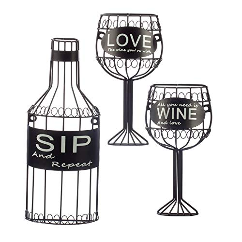 (Fox Valley Traders 3 Piece Sip,Wine &Love Wall Hanging Set by HomeStyle Kitchen)