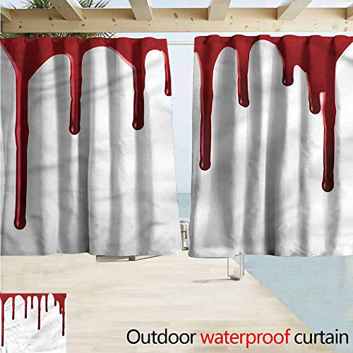 MaryMunger Window Curtains Horror Halloween Zombie Crime Rod Pocket Energy Efficient Thermal Insulated W72x45L Inches]()