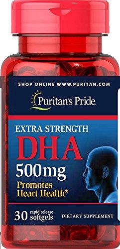 UPC 025077594276, Puritan's Pride Extra Strength DHA 500 mg-30 Softgels
