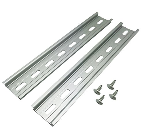 Electrodepot Slotted Aluminum DIN Rail, 35mm x 8