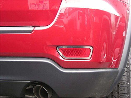 (Rear Bumper Marker Chrome Trim Accents Fit 2011-2018 Jeep Grand Cherokee)