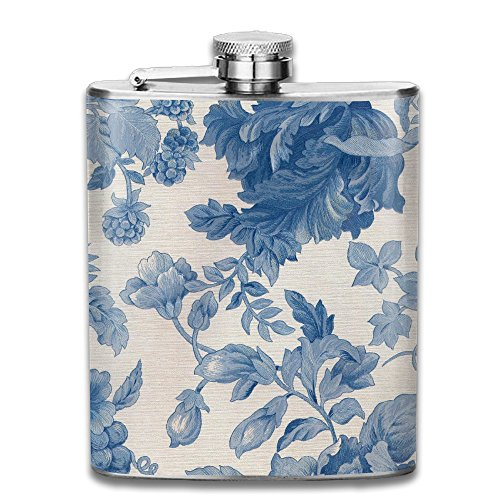 Bouquet Top Pillow (Antique Floral Top Shelf Stainless Steel Flasks 7OZ Personalized)