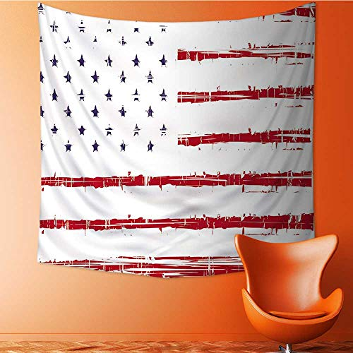 UHOO2018 Wall Hanging Tapestries Texture Flag of United States America Large tablecloths 32W x 32L Inch