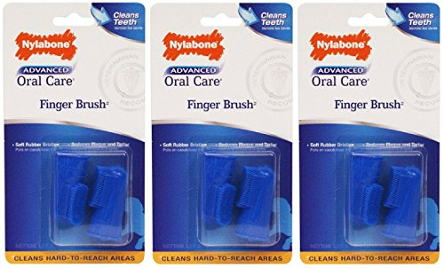 Nylabone 3 Pack Of Advanced Oral Care Finger Brushes For Pets