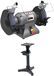 Jet 578008 1 hp 8 Industrial Bench Grinder with IBG-Stand for IBG-8
