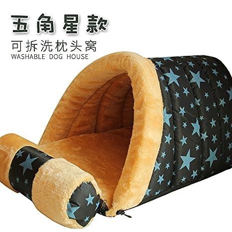 Aemember The Pillow House Teddy Vip Kennel - Caseta de perro para mascotas en otoño e invierno casa gato casa gato casa gato casa gato: Amazon.es: Productos ...