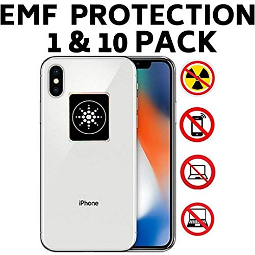 (RADIATION PROTECTION FOR CELLPHONES/LAPTOP - ANTI EMF/EMR RADIATION STICKER - Radiation Shield Blocker - Remove Electronic Technologies Radiation - 10 PACK BUNDLE DEAL!)