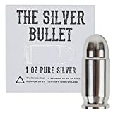 The Silver Bullet - 1 oz Pure Silver Bullet, Perfect as a Gift for Any Special Occasion or Collector