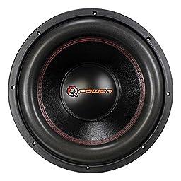 Q Power 12 Inch 3000 Watt Super Deluxe Subwoofer DVC Car Audio Sub | QP12-Super