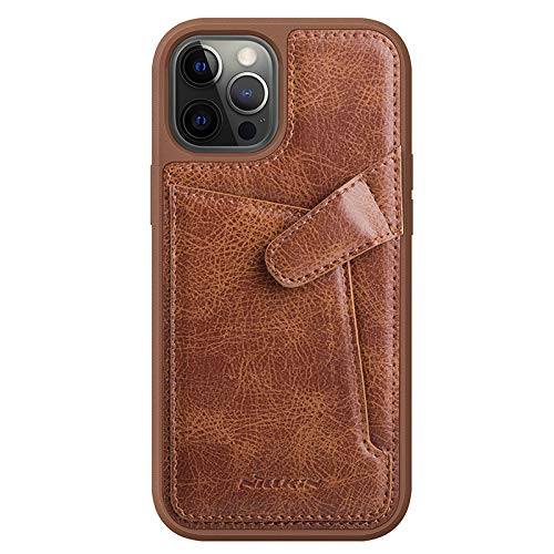 Nillkin Case for Apple iPhone 12 / Apple iPhone 12 Pro (6.1″ Inch) Aoge Leather 360 Protection Elite Business Case with Soft Microfiber Lining & Internal Card Slot Brown
