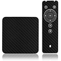 Skinomi TechSkin - Pivos XIOS DS Media Player - Carbon Fiber Black Full Body Skin Protector / Front & Back Premium HD Clear Film / Ultra High Definition Invisible and Anti Bubble Crystal Shield