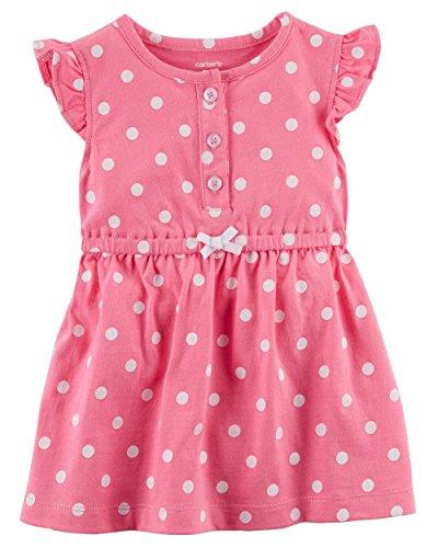 Carter's Baby Girls' Polka Dot Jersey Dress Newborn -