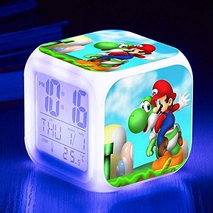 Amazon.com: Dropship Super Mario Watch LED Alarm Clock 7 ...