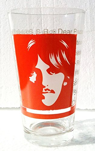 GEORGE HARRISON Litho THE BEATLES Collector Series Pint Glass