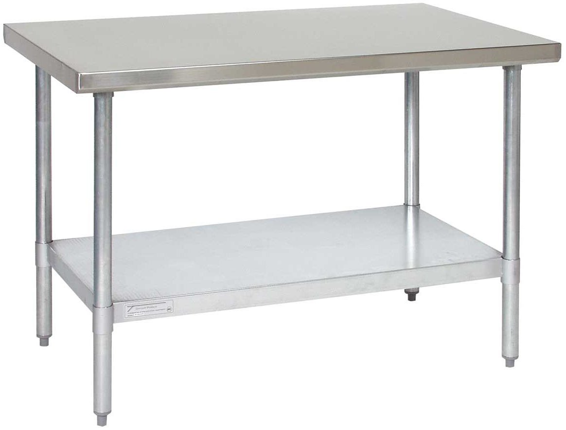 Tarrison WT3096 Heavy Duty Stainless Steel Top Work Table with Galvanized Legs and Undershelf, 96'' Length x 35'' Height x 30'' Depth by Tarrison Products