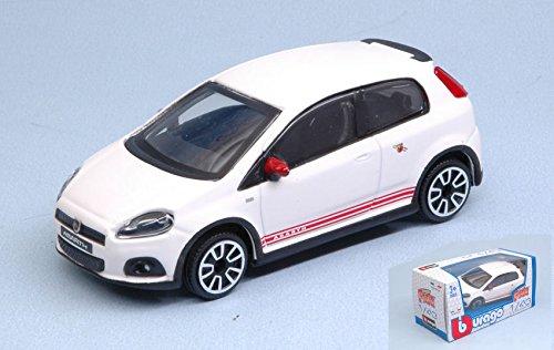 FIAT GRANDE PUNTO ABARTH 2014 WHITE 1:43 - Burago - Auto Stradali - Die Cast - Modellino