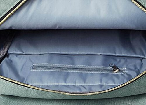 FZHLY Bolso Estilo Coreano Del Viento Colegio Simple Y Durable Bolsa De Estudiante,LightGreen-Small PeacockBlue-Large