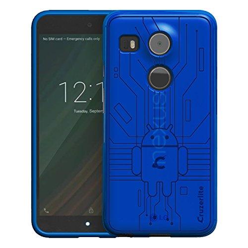Nexus 5X Case, Cruzerlite Bugdroid Circuit Case Compatible for LG Nexus 5X - Blue (Cruzerlite Bugdroid Circuit Case For Lg Nexus 5)