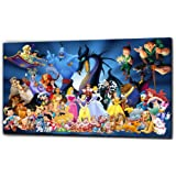 """Disney Characters Canvas Print - Color: As Shown In Picture - Canvas Size: 20"""" X32"""""""