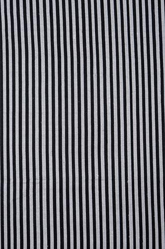 Black Silver Black Silver Striped Silk Shantung 48 Fabric ()