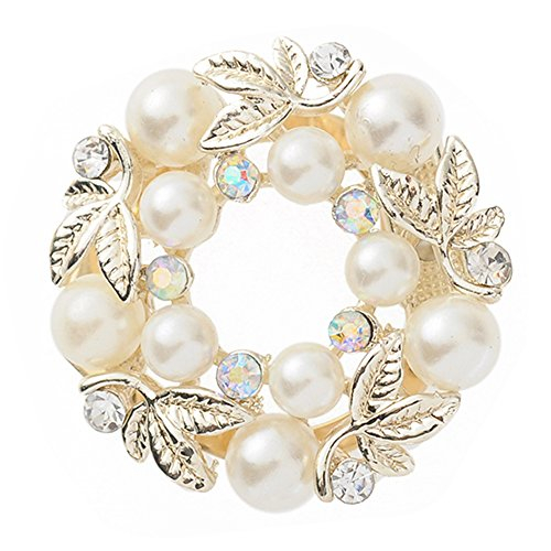 Bluelans® Luxury Sparkling Faux Pearl Rhinestone Scarf Ring Silk Scarf Clip Fashion Jewelry Gift
