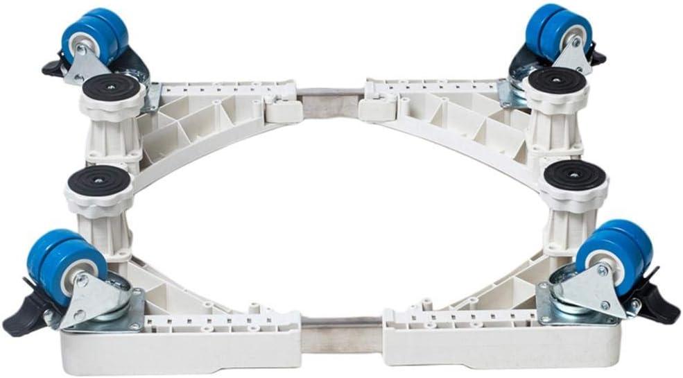 K/ühlschrankhalterung mit Rollen Mobiler Standfu/ß f/ür Waschmaschine mit Rollen Erh/öhte Platte aus Edelstahl rutschfest f/ür K/ühlschrank Gefrierschrank Trockner avec des roues \